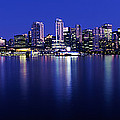 Vancouver Skyline At Night, British by Panoramic Images