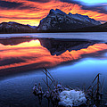 Vermillion Lakes Mount Rundle by Mark Duffy