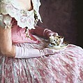 Victorian Woman Taking Tea by Lee Avison