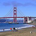 Birds View Of The Golden Gate  by AJ  Schibig