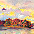 View Of Goat Island From Clackamette Park by Anna Porter