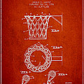 Vintage Basketball Goal Patent From 1951 by Aged Pixel
