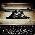 Vintage Olympia Typewriter by Natasha Marco