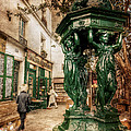 Wallace Fountain By Shakespeare And Co / Paris by Barry O Carroll