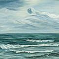 Waving Sea by Angeles M Pomata