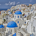 White Buildings With Steep Slope by Bill Bachmann
