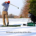 Winter Golf by Frozen in Time Fine Art Photography