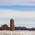 Winter Red Barn by Bailey and Huddleston