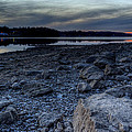 Winter Sunset On The Lake by David Dufresne