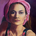 Woman In A Pink Turban by Keith Burgess