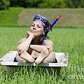 Woman Lying In A Bathtub by Mats Silvan