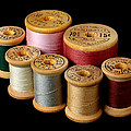 Wooden Spools by Jim Hughes