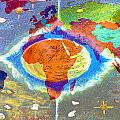 World Map And Barack Obama Stars by Augusta Stylianou