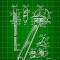 Wrench Patent 1915 - Green by Stephen Younts