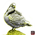 Yellow Pigeon Pop Art 5516 - Fs - Bb -  Modern Animal Artist Jam by James Ahn
