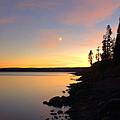 Yellowstone Lake Sunset by Stephen  Vecchiotti