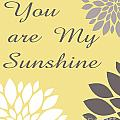 You Are My Sunshine Peony Flowers by Voros Edit