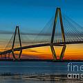 Arthur Ravenel Jr. Bridge At Sunset by Dale Powell