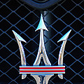 2005 Maserati Gt Coupe Corsa Emblem by Jill Reger