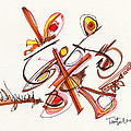 2012 Drawing #23 by Lynne Taetzsch