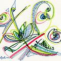 2012 Drawing #36 by Lynne Taetzsch