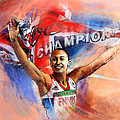 2012 Heptathlon Olympics Gold Medal Jessica Ennis  by Miki De Goodaboom