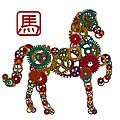 2014 Chinese Wood Gear Zodiac Horse Illustration by Jit Lim