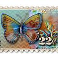 22 Cent Butterfly Stamp by Amy Kirkpatrick