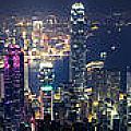 Hong Kong Panorama From Peak by Tuimages