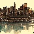 Boston Skyline by Diane Strain