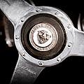 1951 Jaguar Steering Wheel Emblem by Jill Reger