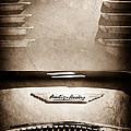 1956 Austin-healey 100m Bn2 'factory' Le Mans Competition Roadster Hood Emblem by Jill Reger