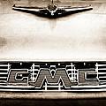 1956 Gmc 100 Deluxe Edition Pickup Truck Hood Ornament - Grille Emblem by Jill Reger