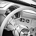 1957 Chevrolet Corvette Steering Wheel Emblem by Jill Reger