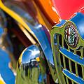 1961 Alfa Romeo Giulietta Spider Grille Emblem by Jill Reger