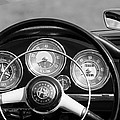 1961 Alfa Romeo Giulietta Spider Steering Wheel Emblem -1185bw by Jill Reger