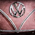 1964 Volkswagen Vw Double Cab Emblem by Jill Reger