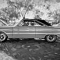 1967 Plymouth Belvedere Gtx 440 Painted Bw by Rich Franco