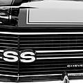 1970 Chevrolet Chevelle Ss Grille Emblem by Jill Reger