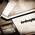 1982 Lamborghini Countach 5000s Taillight Emblem by Jill Reger
