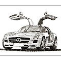 Gull Wing Mercedes Benz S L S Gull-wing by Jack Pumphrey