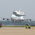 747 Carrying Space Shuttle by Science Source