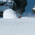 A Male Snowboarder Makes A Series by Jason Abraham