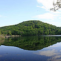 A Reflective View Of Round Pond At The United States Military Academy by James Connor