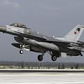 A Turkish Air Force F-16c Fighting by Daniele Faccioli