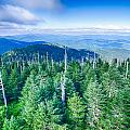 A Wide View Of The Great Smoky Mountains From The Top Of Clingma by Alex Grichenko