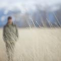 A Young Man Enjoys A Winter Stroll by Heath Korvola