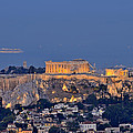 Acropolis Of Athens During Sunrise by George Atsametakis