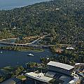 Aerial View Of The New Husky Stadium by Jim Corwin