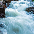 Alluvial Fan Falls On Roaring River In Rocky Mountain National Park by Fred Stearns